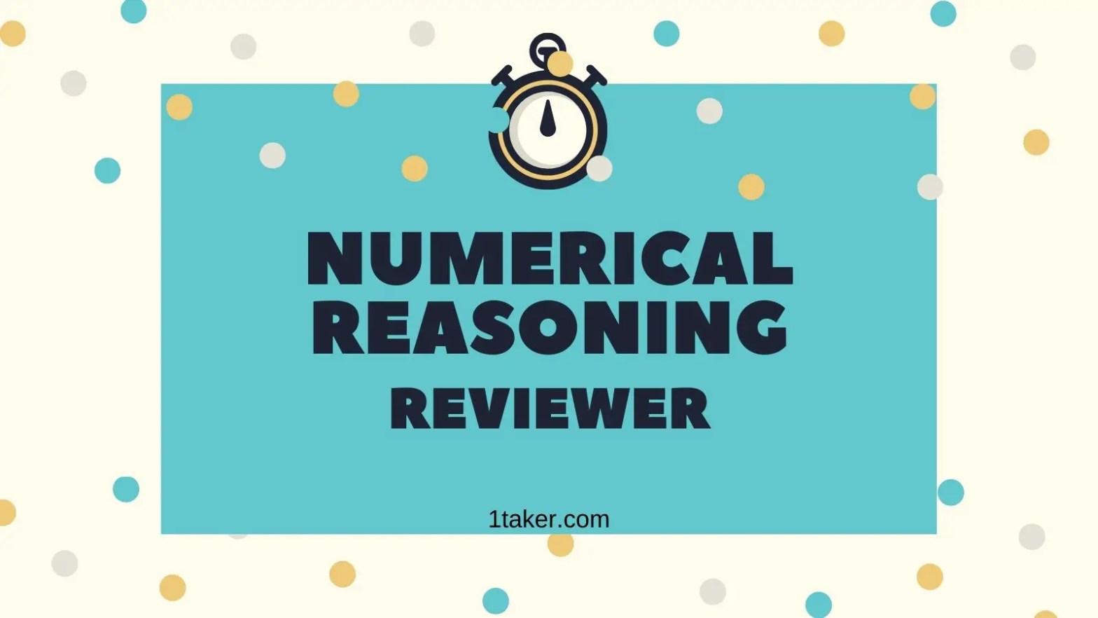 numerical reasoning sample questions civil service exam