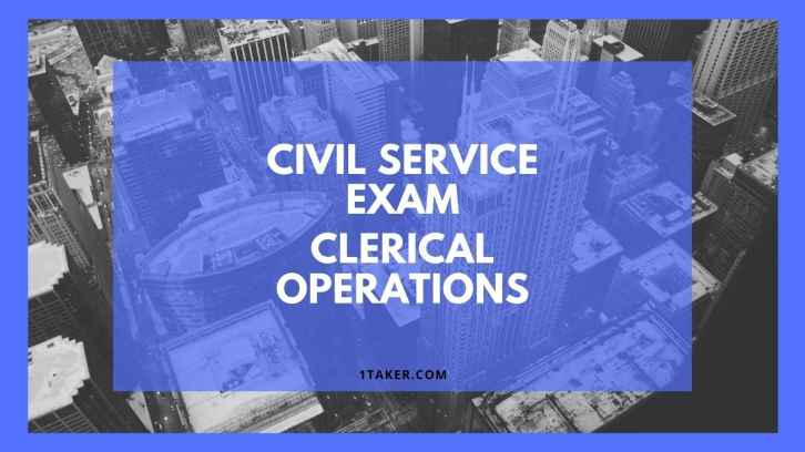 civil service exam clerical operations sample questions