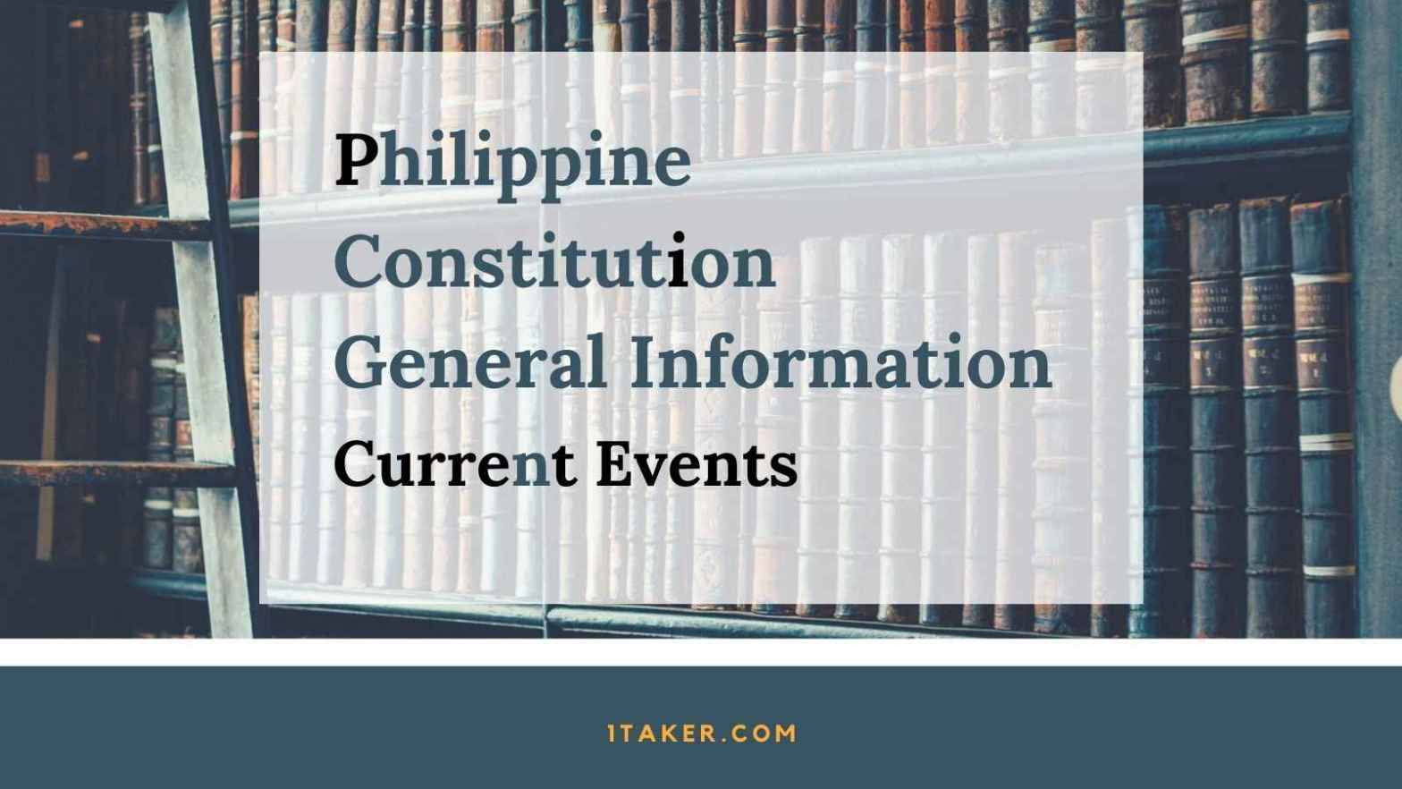 philippine constitution general information current events sample questions