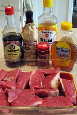 ingredients for Japanese brisket