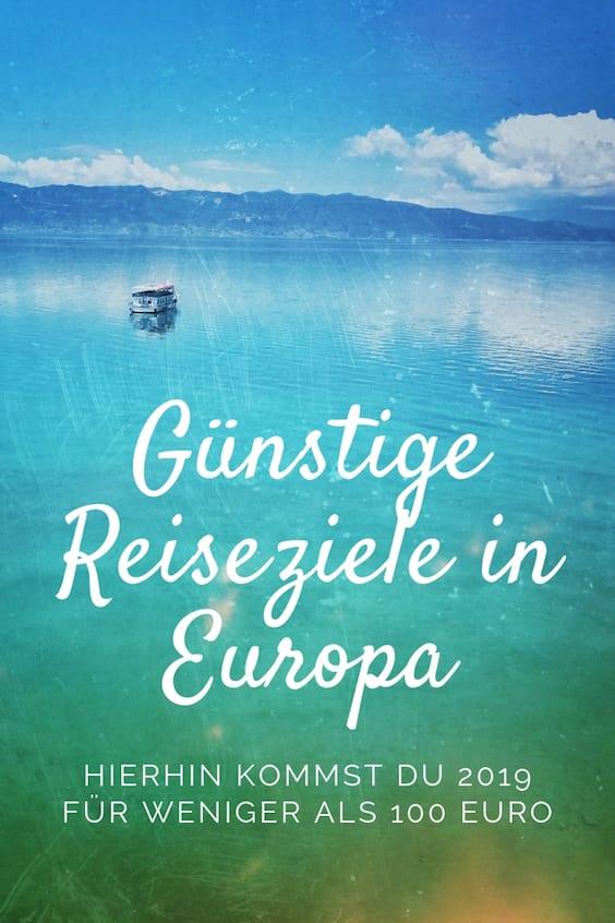 Günstige Reiseziele in Europa
