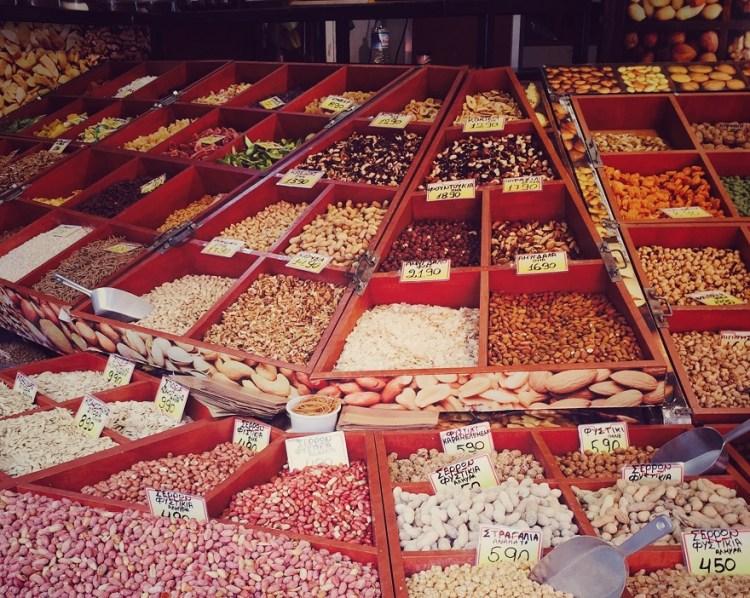 Thessaloniki Kapani Markt Bohnen