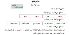 نصوص استماع مادة اللغة العربية للصف الأول