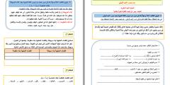 ملف أوراق عمـل اللغة العربية للصف الخامس – الفصـل الأول