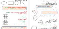 أوراق عمل وحدة الهندسة والقياس للصف السادس