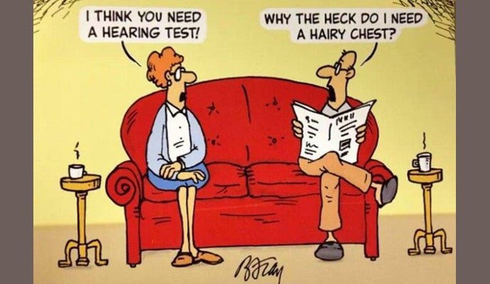 Image result for hearing loss and dementia cartoon