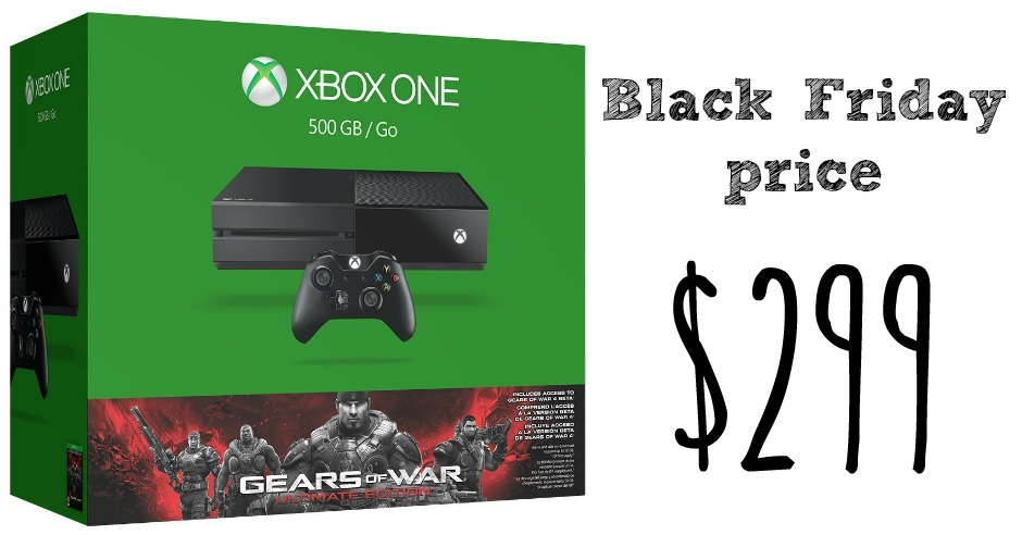Xbox One Gears Of War Console 299 Black Friday Price