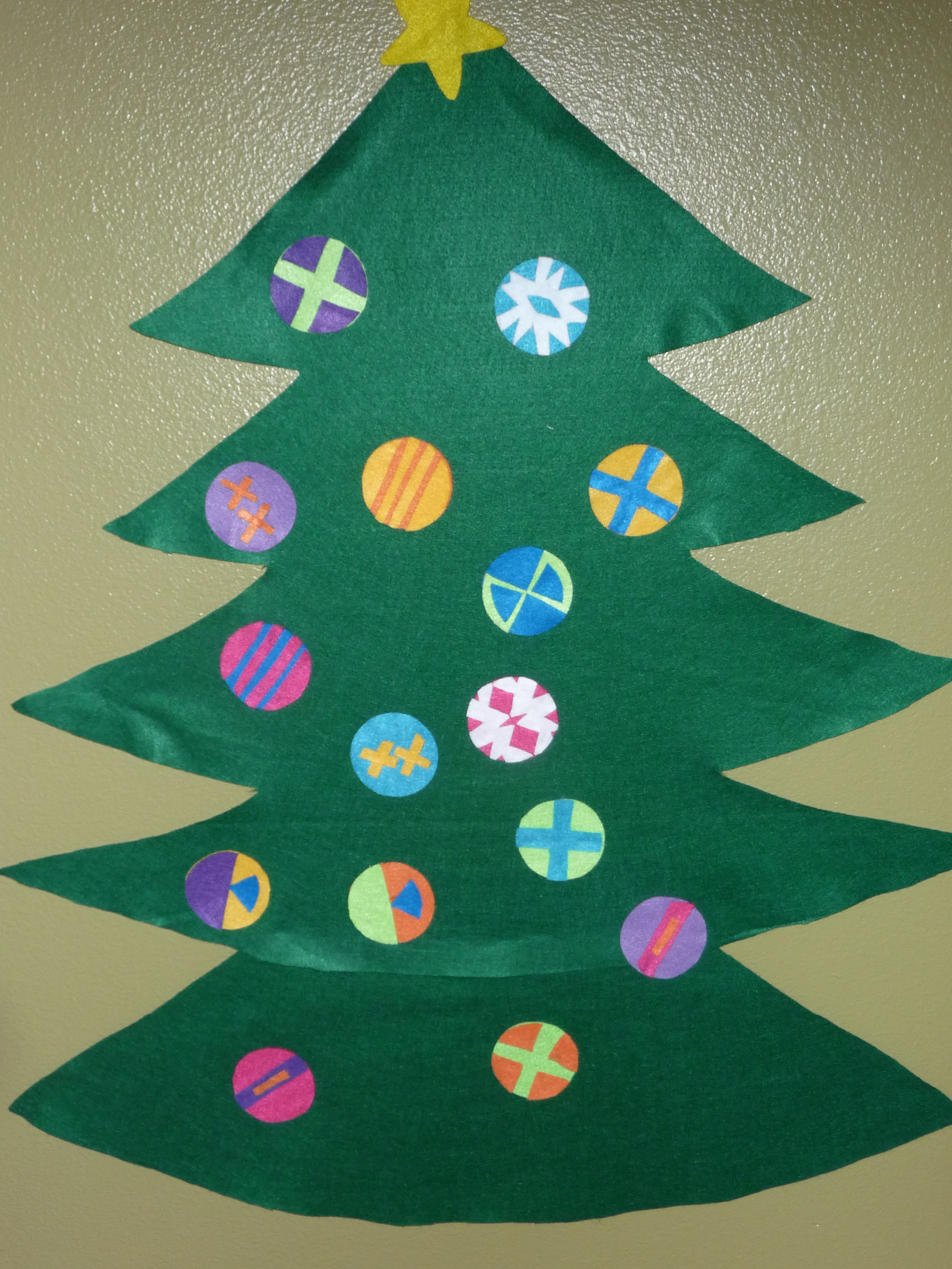 Frugal Felt Christmas Tree Project Fun For The Little People