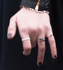 Crop from High-res photo displaying rings on the left-hand from Scarlet Witch Wanda Maximoff in Avengers 2 Age of Ultron