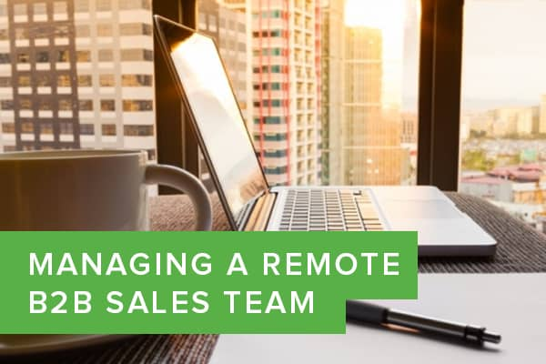 Managing a Remote B2B Sales Team