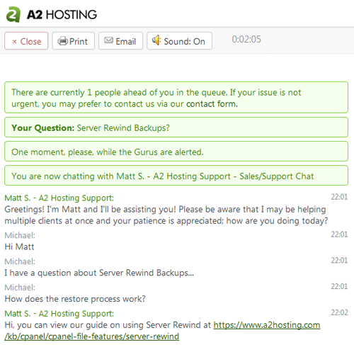 A2 Hosting Customer Support