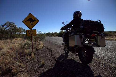 Kangaroo Crossing, as in right in front of you at 130 km/h