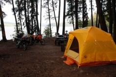 Camp on Bobtail Lake