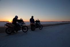 bikes at sunrise