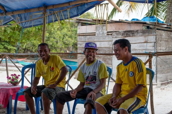 Estevao, Joao and Ollie during the workshop