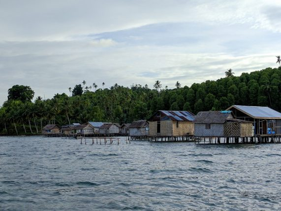 The Bajo, a nomadic seafaring people, live in stilt houses