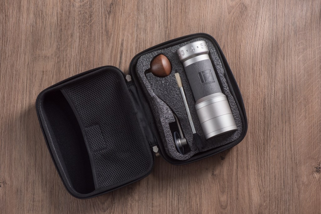K-Plus Grinder with the travel case