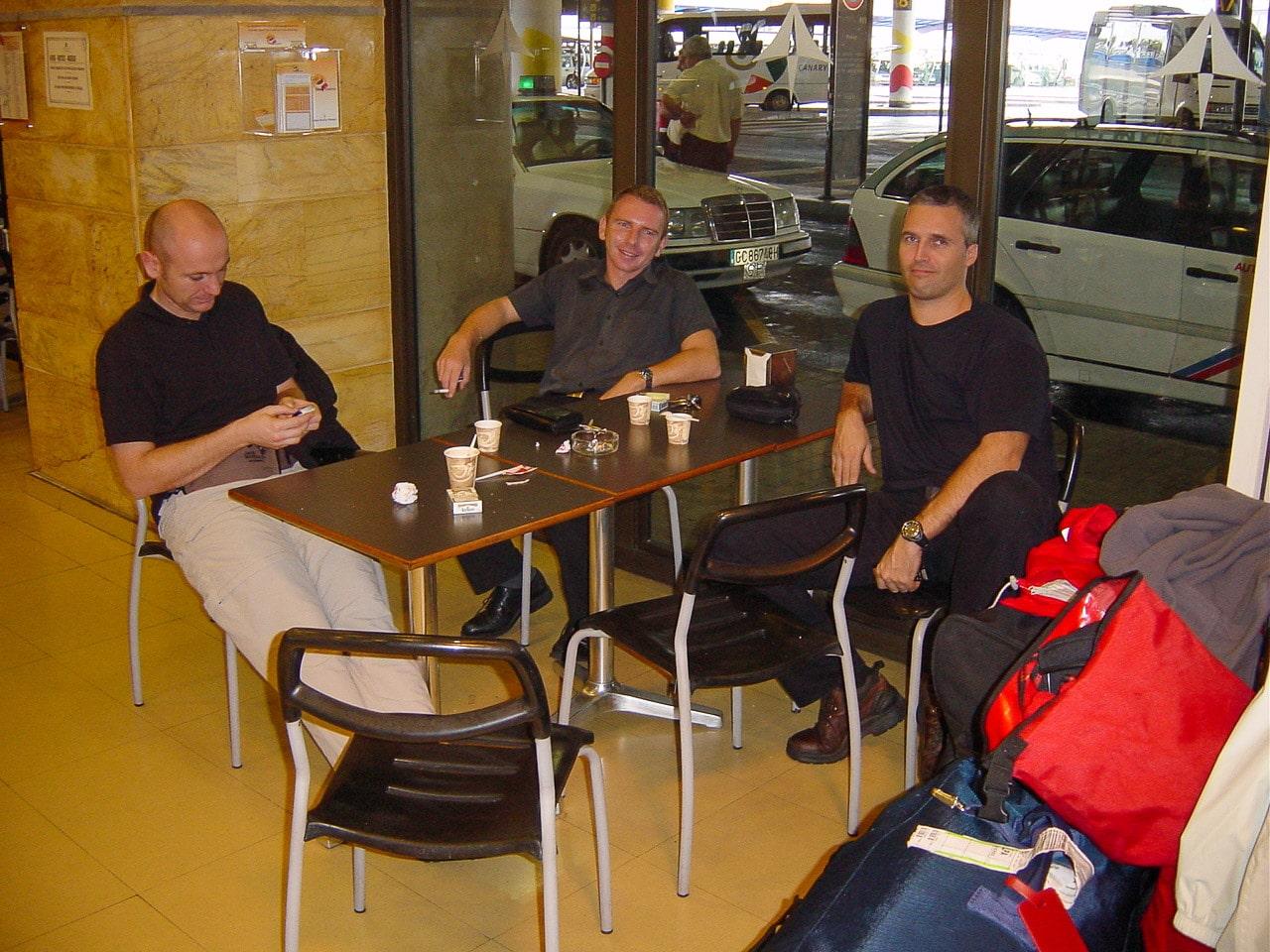 Ricci am Flughafen