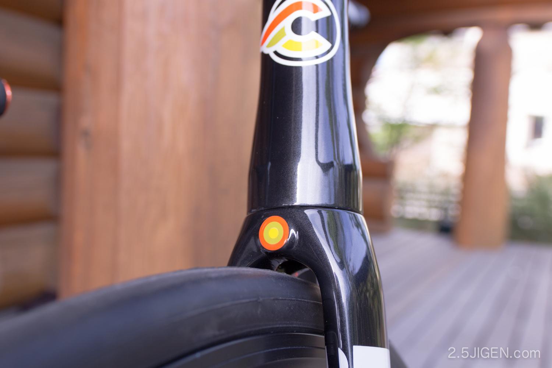 チネリ ピストバイクのフロントフォーク