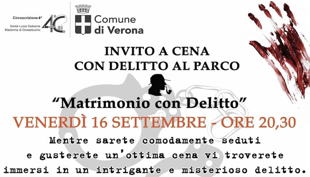 Invito A Cena Con Delitto Al Parco Venerdì 16 Settembre