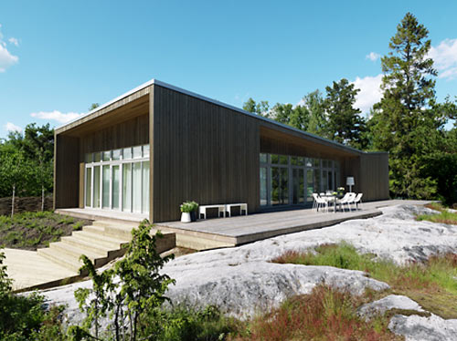 Folded Roof House in Sweden by Claesson Koivisto Rune