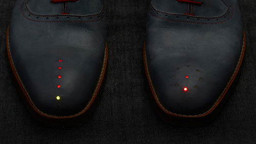 GPS Shoes Take You Where You Want to Go by Dominic Wilcox
