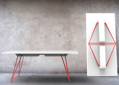 A Folding Table Called Lucy in home furnishings Category