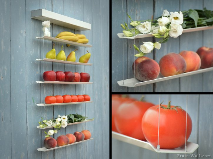 Creative Storage Ideas Fruit Wall Hanging Fruit Produce Food Garden Bananas Apples Flowers