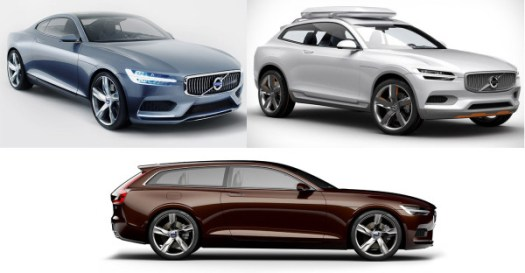 The DNA of all three Volvo Concept Cars – the Concept Coupe, Concept XC Coupe, Concept Estate – were integrated into the new Volvo XC90.