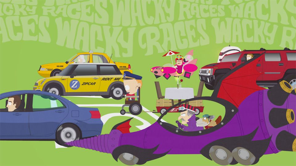 south park wacky racers