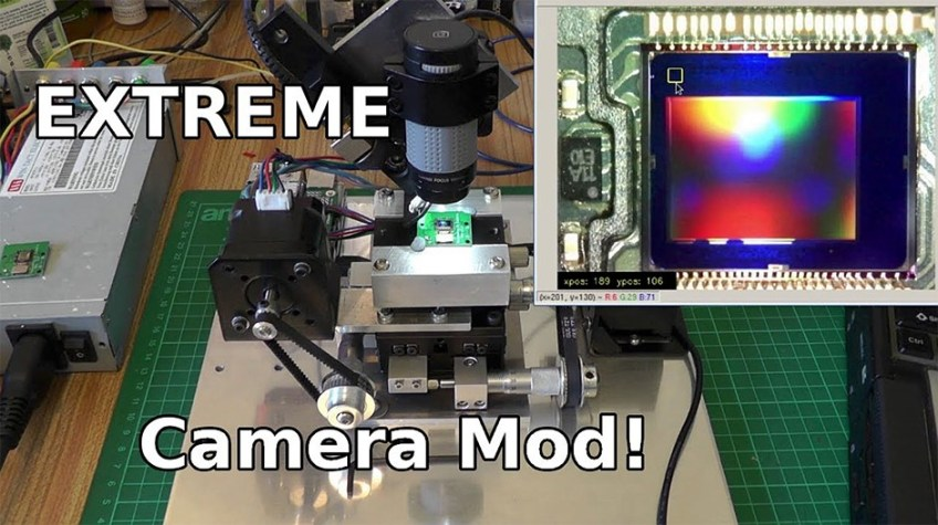 Blasting away a sensor's Bayer array with a laser and building a DIY Raspberry Pi spectrometer