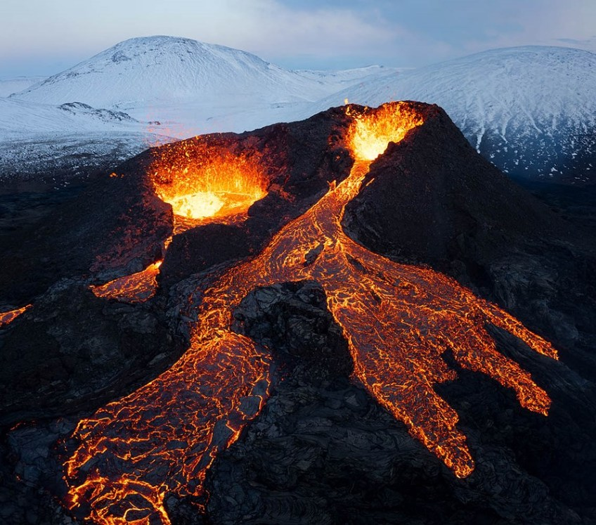 Lava Frenzy: Shooting Fagradalsfjall Volcano in Iceland