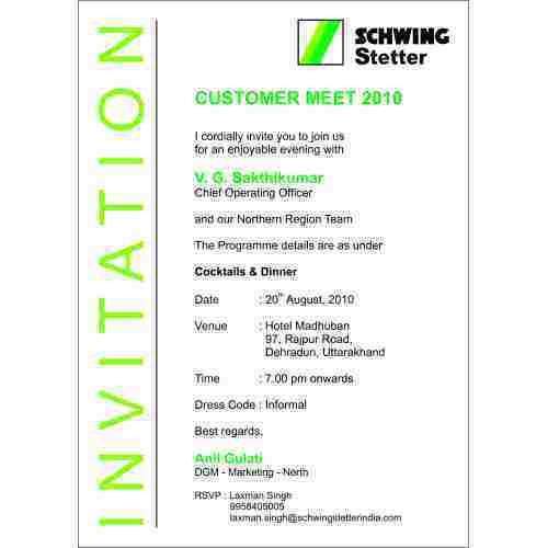 Official Invitation Card