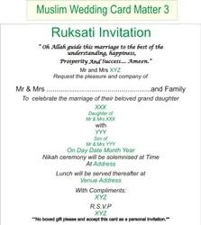 Wedding Invitation Card Matter Wording