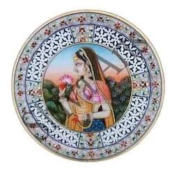 Lotus Girl Marble Plate