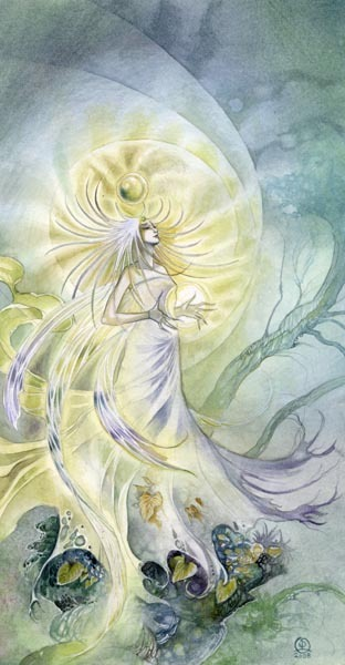 Medusa of the Woods 2 by Stephanie Pui-Mun Law A faery inspired by a very delicate orchid called Habenaria medusa.