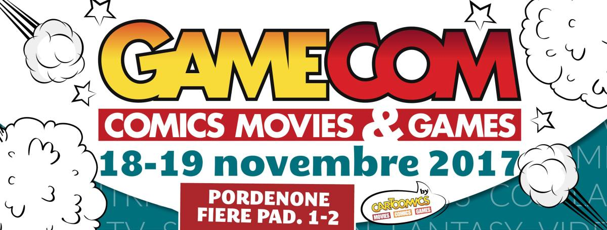 gamecom pordenone 2017 2500x951 In contemporanea: GameCom. Il grande evento a Pordenone Fiere il 19 e 20 novembre
