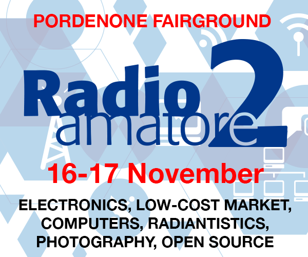 600 ENG Ask for the ticket discount coupon for Radioamatore 2019.