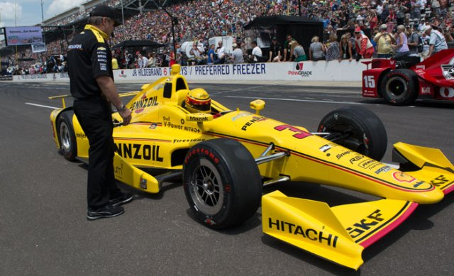 For a record eighth time, Helio Castroneves won the TAG Heuer Indy 500 Pit Stop Challenge