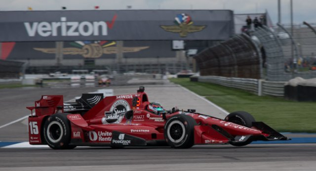 Graham Rahal powered his way to finish fourth after starting 24th