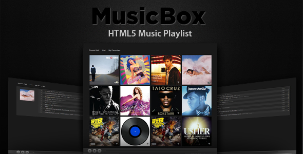 MusicBox - HTML5 Music Player - CodeCanyon Item for Sale
