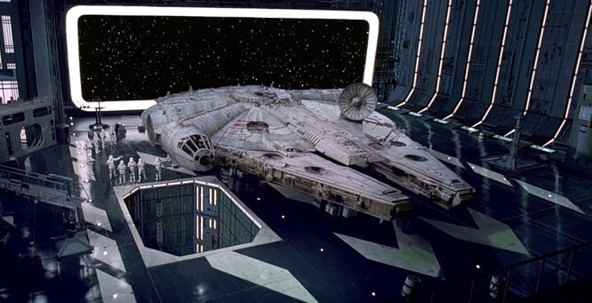 Image result for millennium falcon film still