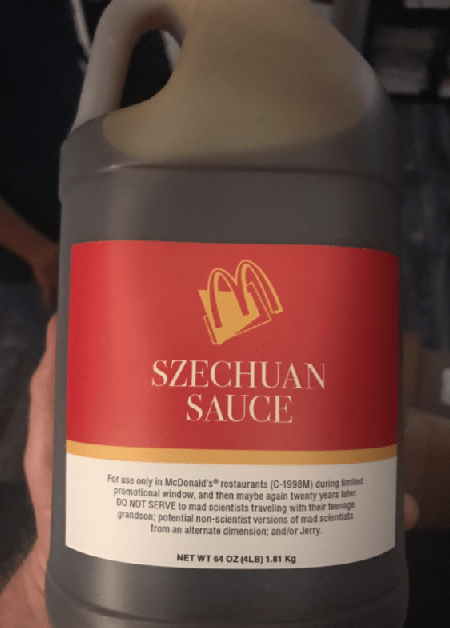 Bottle of szechuan sauce