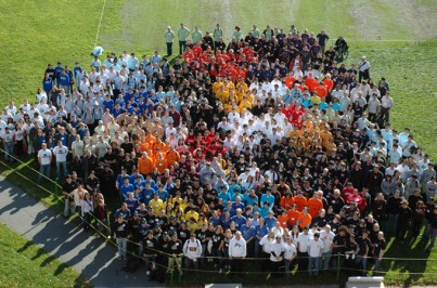 Overhead Photo of iGEM 2008 Participants at MIT