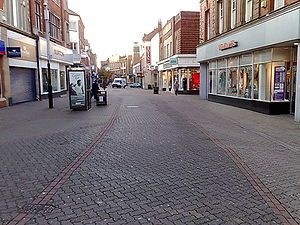 High Street in Kettering in Northamptonshire, UK.