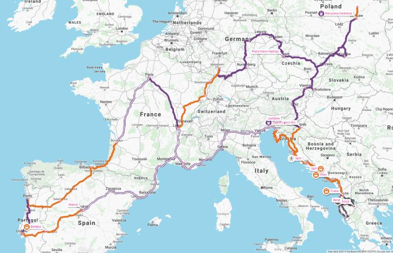 Long Trip Europe Itinerary