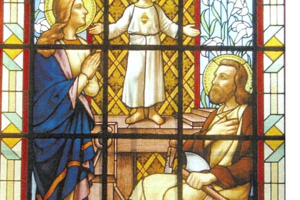Brandglas Gbergen 1 – La sainte famille (traphal)