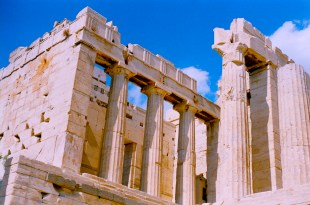 Some temple on the Acropolis that is not the Parthenon.