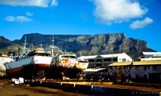 Cape Town remains a largely maritime city, as evidenced by these fishing vessels at dry dock for repairs.