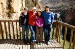 Gary and Marideth, the son Devon, and I enjoy the view of Eland River Falls.